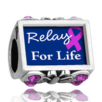 Charms Beads - photo against butterfly amethyst crystal relay for life beads charms bracelets Image.