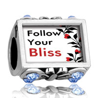 Charms Beads - photo against butterfly aquamarine crystal plated beads charms bracelets Image.