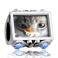 Charms Beads - photo against butterfly aquamarine crystal fishbowl cat fit &  beads charms bracelets Image.