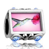 Charms Beads - photo against butterfly aquamarine crystal hummingbird beads charms bracelets Image.