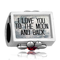 Charms Beads - i love you to the moon and back photo russet crystal beads charms bracelets fit all brands Image.