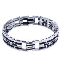 Bracelets - men's bracelet stylish men's stainless steel bracelets cuff bangle bracelets Image.