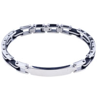 Bracelets - men's bracelet elegant men's stainless steel bracelets cuff bangle bracelets Image.