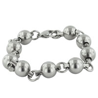 Bracelets - men's bracelet black chain interlinked gifts ideas him bracelets men's stainless steel bracelets cuff bangle bracelets Image.