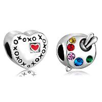 Charms Beads - 2  bundle set fit all brand plated beads charms bracelets brands Image.
