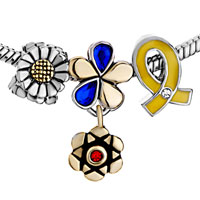 New Year Deals - fit all brands flower with and ribbon kit euro dangle european beads Image.