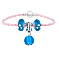 Charms Beads - new ocean blue ball glass and beads charms bracelets fit all brands Image.
