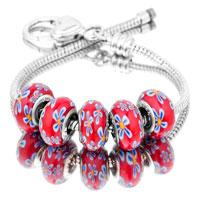 Bracelets - 5  pcs set black block color assorted bundle fit murano glass beads charms bracelets all brands Image.