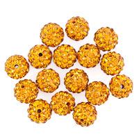 Bracelets - 20  shamballa ball beads charms topaz yellow swarovski elements bracelet Image.
