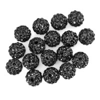 Bracelets - 20  shamballa ball beads charms classic black swarovski elements bracelet Image.