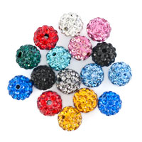 Bracelets - 20  shamballa ball beads charms multicolor swarovski elements bracelet Image.