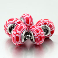 Charms Beads - 5  white cell polymer clay fit all brands beads charms bracelets Image.