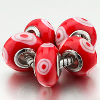 Charms Beads - 5  white circle polymer clay fit all brands beads charms bracelets Image.