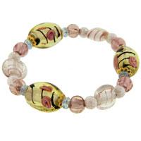 Bracelets - pink multicolor ideas mother beads murano glass bracelet Image.