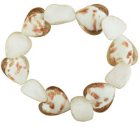Bracelets - white and gold speckled heart bracelet Image.