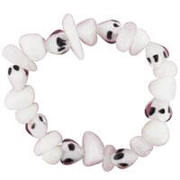 Bracelets - white and black speckled rock shape bracelet Image.