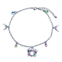 Bracelets - dangle crystal crab bracelet charm Image.