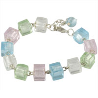 Bracelets - dangle sack crystal bracelet charm Image.