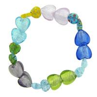 Bracelets - heart millefiori murano glass bracelets Image.