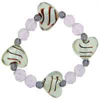 Bracelets - heart gift mother beads murano glass bracelet Image.