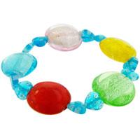 Bracelets - blue multicolor gift bead bracelets murano glass Image.