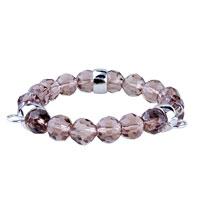 Bracelets - fasteners pale purple quartz link charms bracelet Image.