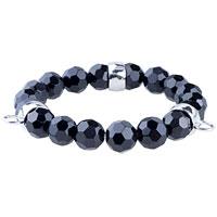 Bracelets - fasteners black quartz bracelet sterling silver pendants charms Image.