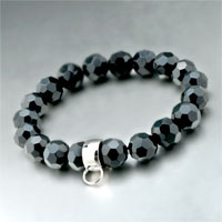 Bracelets - fastener black quartz fits beads charms bracelets fit all brands Image.