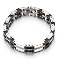 Bracelets - men's stainless steel bracelets cuff bangle bracelets men's domineering chain link bracelet Image.