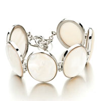 Bracelets - new fashion classic oval white shell bracelets for women gift Image.