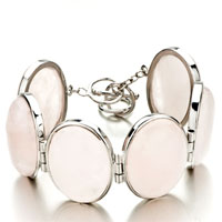 New Year Deals - new fashion classic oval pink stone bracelets for women gift Image.