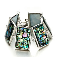 New Year Deals - color mosaic pattern rectangle shell bracelets Image.