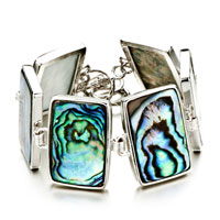 New Year Deals - colored lines splicing pattern rectangle shell bracelets Image.