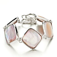 New Year Deals - new fashion classic square pink shell bracelets for women gift Image.
