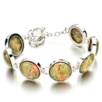 New Year Deals - classic round pale green stone bracelets Image.