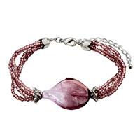 Bracelets - deep purple helix classic murano glass bracelet Image.