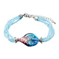 Bracelets - purple blue helix classic murano glass bracelet Image.