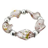 Bracelets - pale purple helix pattern classic murano glass bracelet Image.
