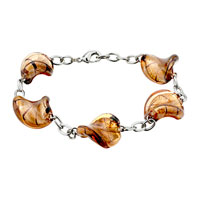 Bracelets - brown helix classic murano glass bracelet Image.