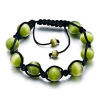 Bracelets - peridot shamballa bracelets white agate adjustable murano glass bracelet Image.