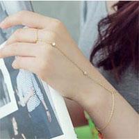 KSEB SHEB Items - chain linked finger ring bangle cuff bracelet Image.