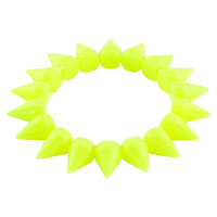 New Year Deals - lemon yellow elastic rock punk rivet studs spike bangle charm stretch bracelet Image.