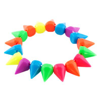 New Year Deals - multicolor elastic rock punk rivet studs spike bangle charm stretch bracelet Image.
