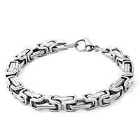 Bracelets - men's stainless steel bracelets cuff bangle bracelets simple men's bracelet Image.