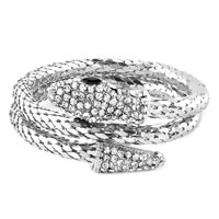 New Year Deals - vintage dragon double snake head multi strands bracelet for men Image.