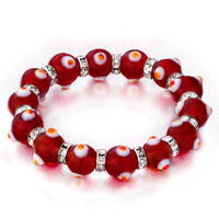 Bracelets - evil eyes bracelets glass evil eye beads red swarovski bracelet Image.