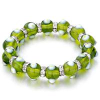 Bracelets - evil eyes bracelets glass eye beads peridot swarovski bracelet Image.