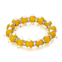 Bracelets - evil eyes bracelets evil eye beads topaz yellow swarovski elements Image.
