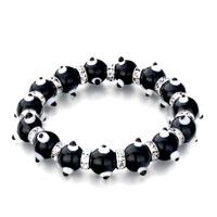 Bracelets - evil eyes bracelets murano glass evil eye beads classic black swarovski elements Image.