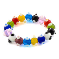 Bracelets - evil eyes bracelets multicolor glass eye beads swarovski evil bracelet Image.